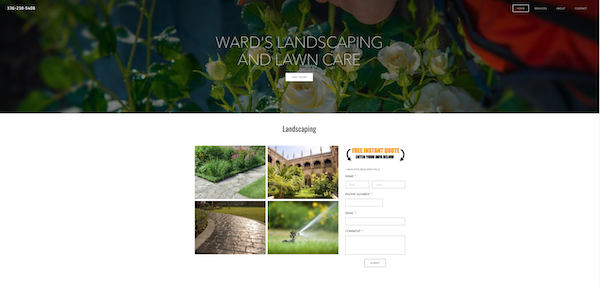 Landscaping and Lawn Care website created by Local Top Three Marketing in Wilmington